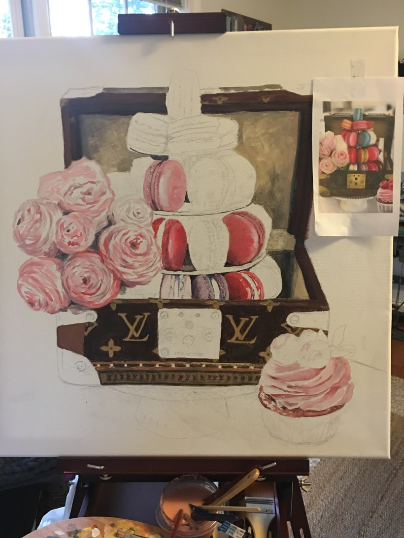 Tressor Box with Macarons progress